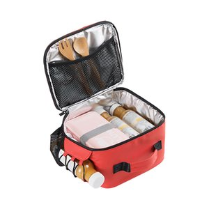 Wholesale Women Men Portable Cooler Lunch Bag Insulated Thermal Fresh Tote Handbag Picnic Fruit Drink Bento Box Accessories Supplies