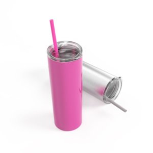 Wholesale FEDEX SALE oz stainless steel skinny tumber steel straw oz tall skinny cup with slid lid vacuum insulated tumblers Coffee mug