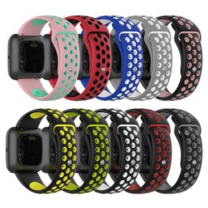 Universal Sport Mesh Silicone band For Fitbit Versa 2 1 Lite Strap dual color Bands Smart Accessories Watch Classic Bracelet Wrist Straps