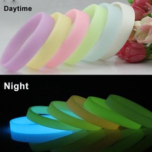 Luminous Glow Bracelets Silicone Bracelets Power Rubber Wristband Hand Bands Blue Yellow Green Glow In The Dark Gifts Led Party