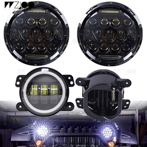 Wholesale 7inch Led W Headlight inch w fog light For Auto Niva X4 Lada Jeep Car Accessories Hunting