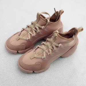 Spring New Arrival Women Fashion Lace-up Neoprene Sneaker PVC Calfskin oversize sole comfortable Trainers with box dust bag designer shoes on Sale