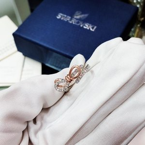 Brand New Rose Gold Color Hollow Flower Rings For Women White Zircon Engagement Fashion Wedding Jewelry Gifts