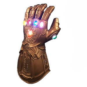 Wholesale Thanos Full Face Mask Led Infinity Gauntlet Cosplay Costumes Infinity Stones War Led Gauntlet Glove Kids Adult Size DEC514