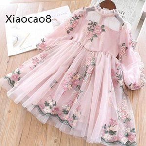 Wholesale 2019 Spring Cute Kids Print Long Sleeve Dresses for Girls Clothing High Quality Children Baby Girl Clothes Princess Dress 3-11YMX190912
