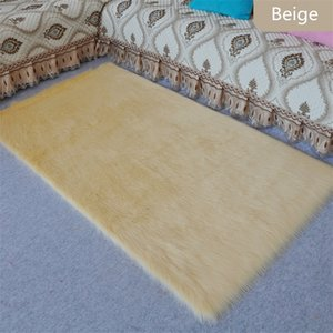 Wholesale Factory cm imitation sheepskin carpet Living room bedroom bedside mats Long hair customizable size