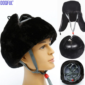 Wholesale work abs resale online - Winter Warm Work Safety Helmet ABS Shell Cold Resistant Ear Head Protective Anti Smashing Hat Long Plush Cap High Quality