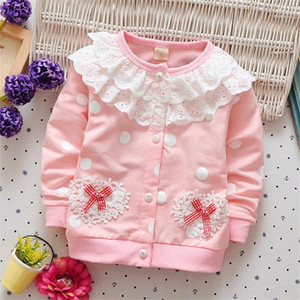 Wholesale BibiCola girls spring jacket lace flower coat cardigan outerwear clothes kids girls outfit clothing for spring fashion coat