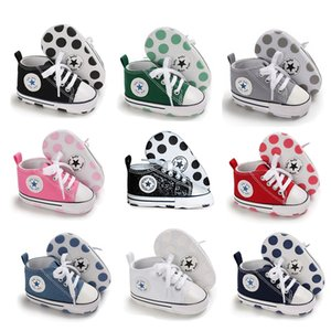 Wholesale leather baby boy run shoe Newborn First Walkers Crib Shoe White Soft Anti Slip Sole Unisex Toddler Casual Canvas Baby Infant Boy Girl Shoes