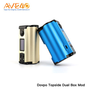 Wholesale Dovpo Topside Dual Box Mod W Powered by Dual Batteries ml Bottle Capacity With inch OLED display Authentic