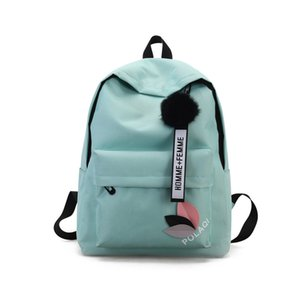 Wholesale Canvas Shoulder Bag Female New College Style Girl Backpacks High School Students Bag High Capacity Bags C061
