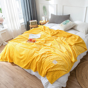 Wholesale sofa bed sheets queen resale online - Super Soft Blanket For Bed Stripe Mink Throw Blanket Sofa Cover Bedspread Winter Warm Bed Sheet Queen King Summer Nap