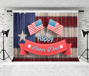 Dream 7x5ft Happy Labor Day Banner Text Photography Backdrop USA National Flag Decor Photo Shoot Background Studio Prop