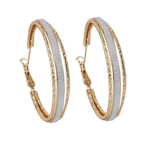 Wholesale Popular Super Big Circles Hoop Earrings Simple Gold Silver Color Jewelry Trendy Retro Earrings For Women