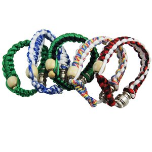 Wholesale Bracelet Bead Pipe Designs Creative Smoking Stealth Pipe Knit Stash Storage Click N Vape Bracelet Smoking Pipe Pieces ePacket
