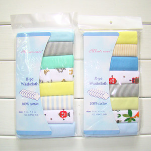 8pcs set 100% Cotton Newborn Baby Towels Nursing Burp Cloths Baby Boys Girls Bebe Bibs Washcloth Handkerchief