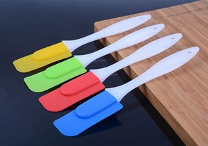 Silicone Bake Spatula 18*3cm Baking Scraper Cream Butter Handled Detachable Cake Spatula Kitchen Pastry Tools OOA7425 on Sale