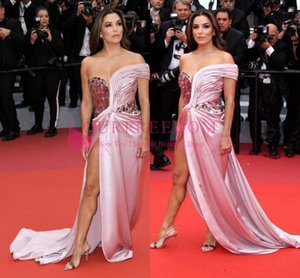 Cannes Film Festival 2019 Sweetheart Celebrity Dresses Sequins Sexy Side Split Formal Evening Occasion Prom Party Dresses Custom Made on Sale