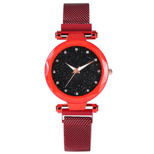 Wholesale Charming Quartz Watch for Women Black Star Dial with Diamond Thin Stainless Steel Mesh Band Luminous Analog Watches