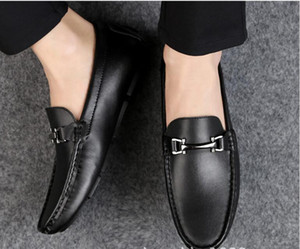 Wholesale brand style Men s Dress Casual Party Loafers Shoe Cowskin Single Shoe Slip On part Wedding Italian Shoes mens designer loafers G5