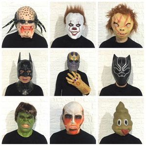 Wholesale bat man masks for sale - Group buy Masks Eco friendly Halloween Party Masks Cosplay Horror Movie Mar Vel Face Mask Tia Ra Defensive Black Pan Ther Bat Man Hood Mas Querade