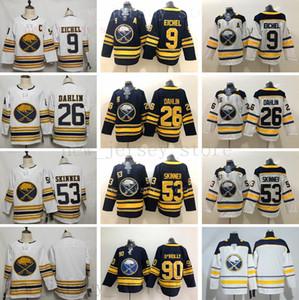 2020 Gold 50th Buffalo Sabres Hockey 9 Jack Eichel Jersey 26 Rasmus Dahlin 53 Jeff Skinner Jersey Navy Blue Ryan O'Reilly Sam Reinhart