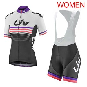 Wholesale LIV Team cycling Jersey set women short sleeve bike clothing tour de France Summer racing bicycle Sportswear factory direct sale Y051004