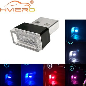 Car USB LED Atmosphere Lights Decorative Lamp Emergency Lighting Universal PC Portable Plug and Play Red Blue Auto interior Led