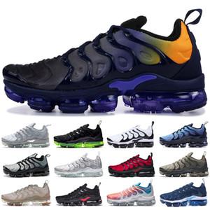 TN Plus Running Shoes For Men Women Royal Persian Violet Black Volt Rainbow Grape Bleached Aqua stylist Triple Black Trainer Sport Sneakers