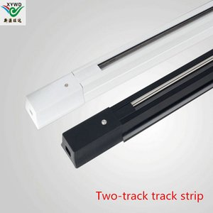 Manufacturer wholesale 0.5 M 1 m thick LED track lamp track AC 85V-265V track strip two-line guide strip thickening all-aluminum copper wire