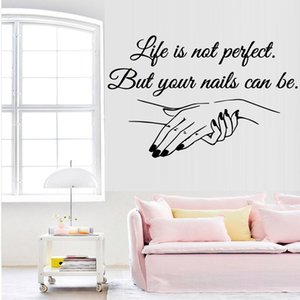 Wholesale Exquisite Vinyl Decal Nail Salon Quotes Wall Sticker Art Mural Beauty Salon Decoration decals for women girls bedroom decor