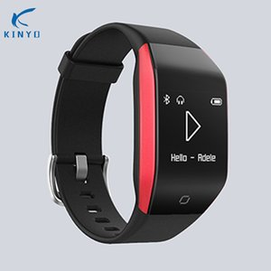 Wholesale KINYO Unique music bracelet smart watch call reminder big storage powerful smart band heart rate monitor bracelet sport tracker