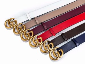 Wholesale 11Popular various colors of men and women fashion boutique belt double ring gold buckle design fashion trends standard size free sh