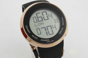 Wholesale Trendy fashion men s sports watch electronic digital display round luxury I series rubber belt men s sports watch
