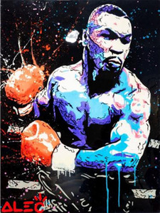 Wholesale oil panel resale online - Alec Monopoly Artworks MIKE TYSON SWINGING PUNCH PANEL Home Decor Handpainted HD Print Oil Painting On Canvas Wall Art Canvas