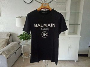 2019 New Balmain T-Shirts Arrival Famous Luxury France Brand Balmain TEE Fashion Model Skinny Hole For Women Men