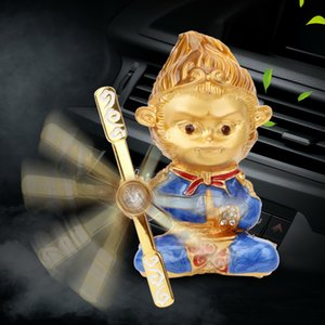 Sun Wukong Car Air Freshener Chinese Culture Design Monkey Shape Car Outlet Clip Perfume Monkey King Zinc Alloy Car-styling
