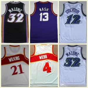 Wholesale Men's Ncaa college jerseys Steve Nash Charles Barkley John Stockton Karl Malone Spud Webb Dominique Wilkins vintage Basketball Jers Hot