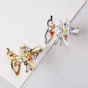 Wholesale M MISM Bead Metal Small Butterfly Hairgrip Cute Childhood For Women Girls Hairpins Hair Accessories Ornaments Hair Clips