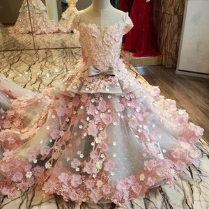 Applique Evening Dress Mother Daughter Gowns Zipper Back Beaded Organza Ball Gown Long Evening Dress Real Photos Off Shoulder Prom Dress on Sale
