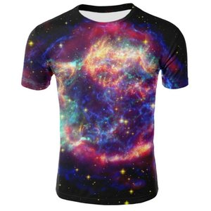 Foreign Trade Source 2019 New Star Pattern Digital Printed T-shirt European And American Men's Short Sleeve T-shirt