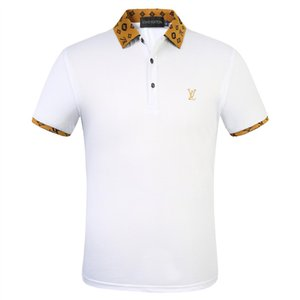 Paris designers polo shirts Embroidery High quality Lapel shirts luxury letter polo casual t shirts for mens Tee man Tops G8LouisVuitton