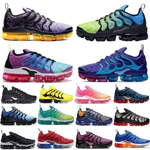 Wholesale Special Offer TN Plus Aurora Green Regency Purple running shoes Lemon Lime triple black Active Fuchsia Outdoor Women mens trainers sneakers