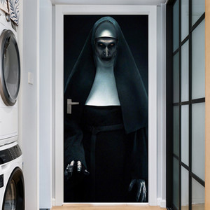 Wholesale Wholesale Romantic Landscape 3D Halloween Grim Reaper Wall Door Stickers Murals Removable Waterproof PVC Decals for Home Decoration