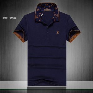Wholesale summer ss designers tag snake print clothing men fabric letter polo g t shirt collar casual women tshirt tee shirt tops