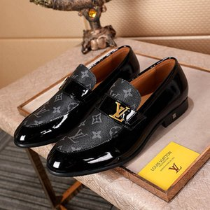 Wholesale New Mens Luxury Monte Carlo Designer Dress Shoes Black Brown Lattice Leather Casual Loafers Men Slip on Pointed Oxford Shoes With box