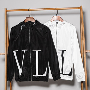 Wholesale Embroidery with cashmere Hoodie Cotton sweater collar Street Loose leisure sports cover for men Black white cashmere coat