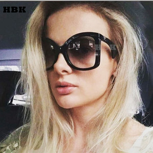 wholesale Brand Luxury Oversized Sunglasses Women 2018 New Sexy Big Frame Black Sun Glasses Ladies Unique Oculos Shades Italy