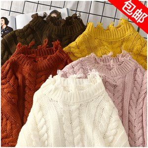 Wholesale Fall Winter Womens Sweater New Pullover Long Sleeve Woman Sweater Casual O neck Tassel Solid New