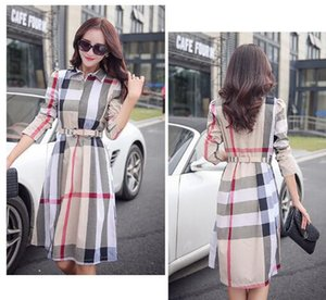 Wholesale 2019 Women s Sexy Bodycon Dresses Ladies Elegant Spring Autumn Long Sleeve Plaid Sheath Dress Vestido De Festa